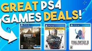 10 GREAT PS4 Game Deals Available RIGHT NOW! (Best Playstation 4 Game Deals)