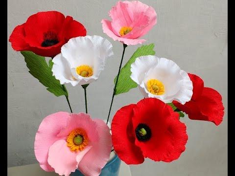 How to make Paper Flowers Poppy (Flower # 80)