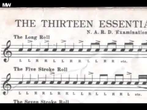 Frank Arsenault playing Rudiment No.1 The Long roll & Three Camps