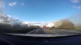 Немецкий автобан 25 Километров за 1 минуту  Timelapse Nr.3 / Freeway Germany