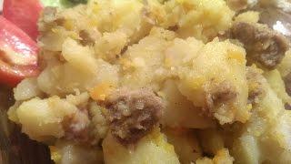 Тушеная картошка с мясом: пошаговый фото-видео рецепт