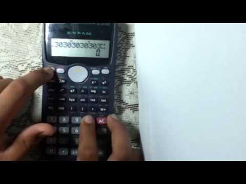 Michael's cool Casio fx 100 MS calculator trick