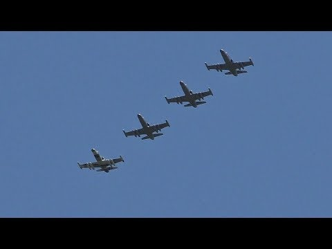 *Rare* 4 Draken Aero L159s Landing & Takeoff at Prestwick Airport