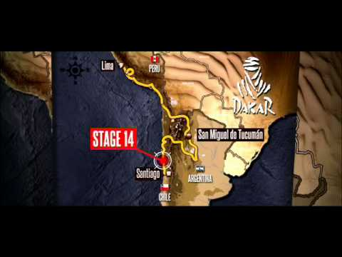 Route of the day - Stage 14 - La Serena Santiago