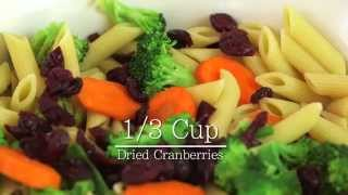 Cranberry Harvest Pasta Salad With Veggies