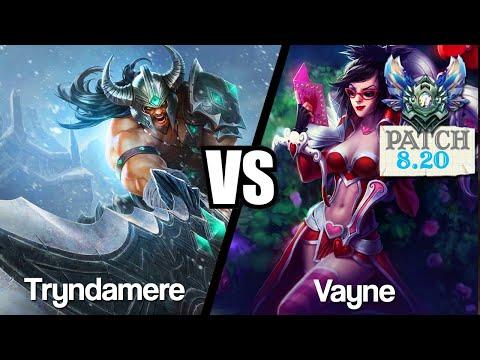 Vidéo d'Alderiate : [FR] TRYNDAMERE VS VAYNE - 5 ADC DANS UNE GAME - 8.20 - DIAMANT 1