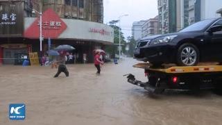 LIVE: Super Typhoon Mangkhut slams south China