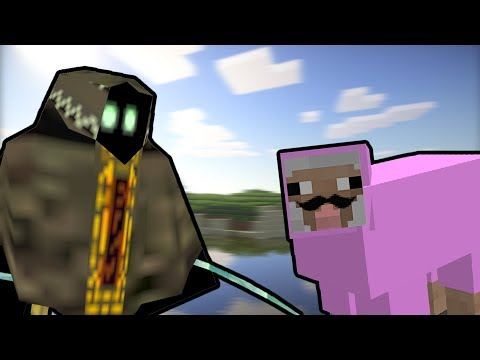 Bob meets Pink Sheep in Minecraft !