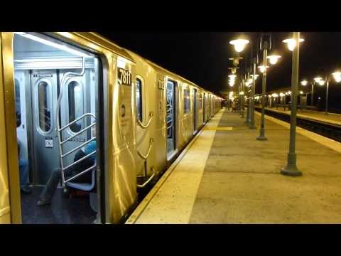 IRT Flushing Line: R188 & R62A 7 Trains at Woodside-61st St-Roosevelt Ave (Weekend)