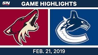 NHL Highlights | Coyotes vs. Canucks - Feb 21, 2019