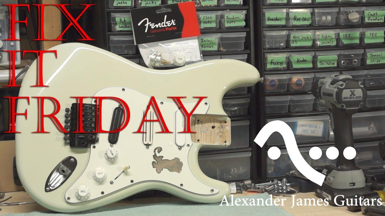 Fender TBX tone control install  Fix it Friday #7 AJG