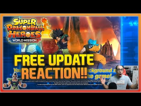 SUPER DRAGON BALL HEROES WORLD MISSION FREE UPDATE REACTION!! | THE WHOLE BROLY SQUAD IS HERE & MORE