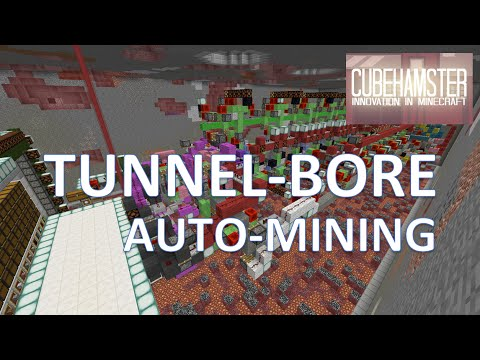 Minecraft: Automatic Tunnel Bore Machine - Auto Mining [No Mods/ No Command Blocks]
