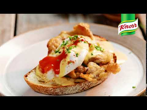 Softshell Crab Salted Eggs Benedict (6 seconds)