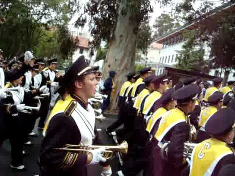 Cal Band March.  It was sad when the great ship went down...