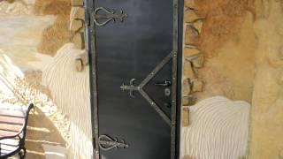 Входные металлические двери стилизация под старину ковка петли, ручки, накладки(, 2016-09-17T11:16:21.000Z)