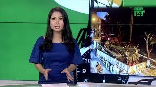 Công nhân trắng đêm di dời cây hoa sữa lên bãi rác Nam Sơn | VTC14