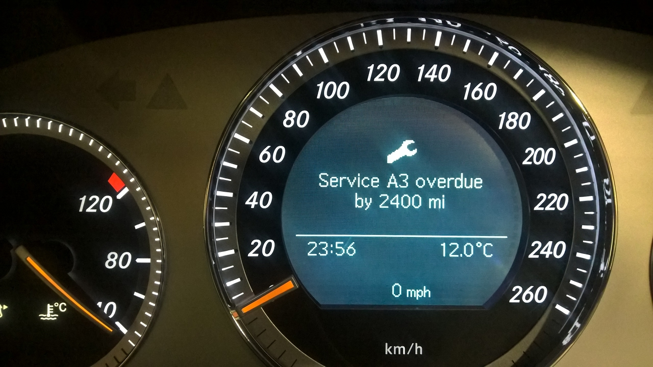 How to reset service warning in Mercedes C220 CDI 2008