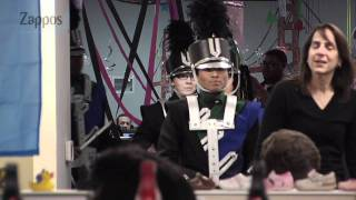 Zappos Birthday Prank: Marching Band in Office