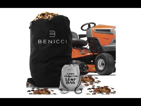 Benicci Lawn Tractor Leaf Bag - Speedy Zipper for Faster Lawn Cleanup