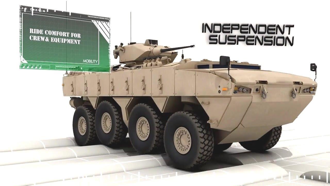 FNSS - Pars 8X8 Wheeled Armoured Vehicle (WAV) Simulation [720p ...