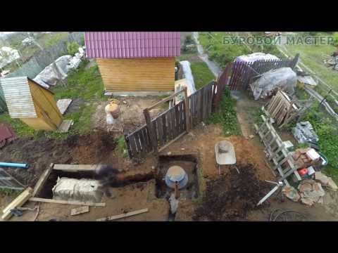 Монтаж септика -  автономной канализации ДОЧИСТА Профи 6 ПР и инфильтратора в Ярославле