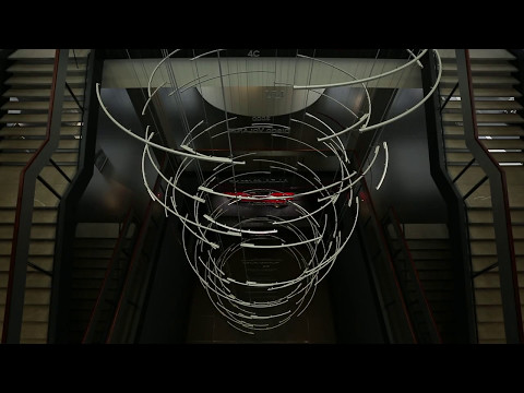 DNA - Dynamic lighting at Alfa Romeo Museum, Arese
