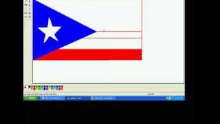 ms paint Puerto Rico flag