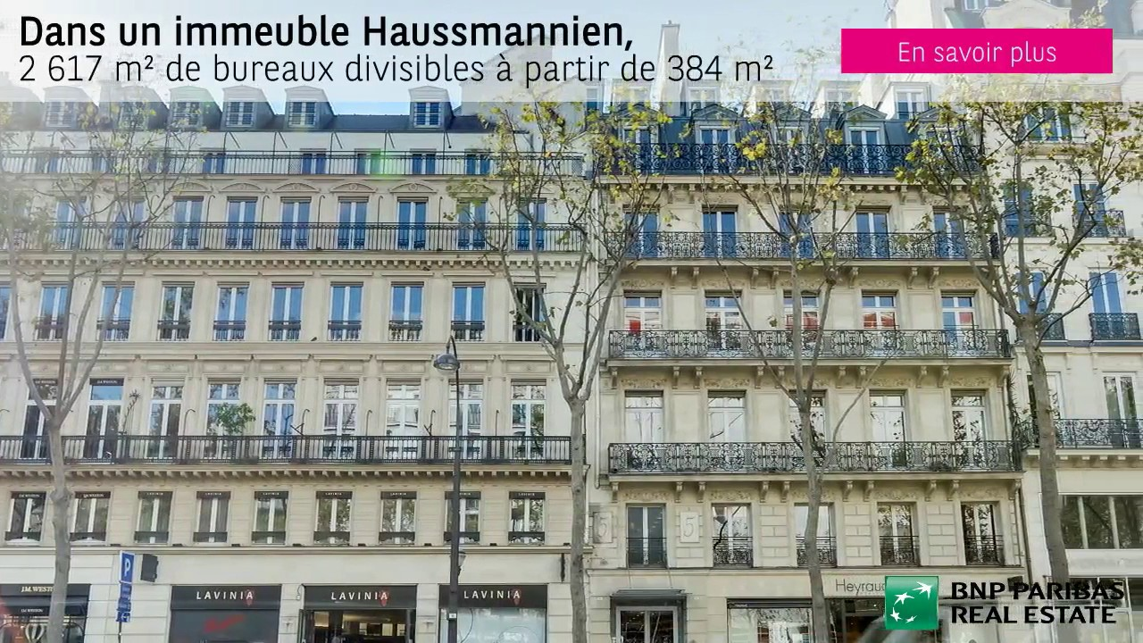 immeuble haussmannien paris 1 2 617 m2 louer youtube. Black Bedroom Furniture Sets. Home Design Ideas