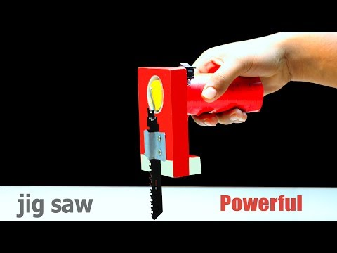 How To Make Jigsaw Machine for wood cutting at home