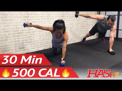 30 Minute HIIT Workout for Fat Loss - High Intensity Workout Exercise - At Home HIIT Home Workout