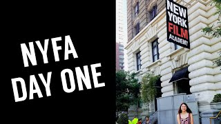 My First Day at the New York Film Academy (NYFA)