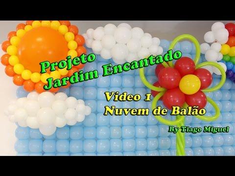 Como fazer Nuvem de Balão - Projeto Jardim Encantado - Vídeo 1   Tiago Miguel