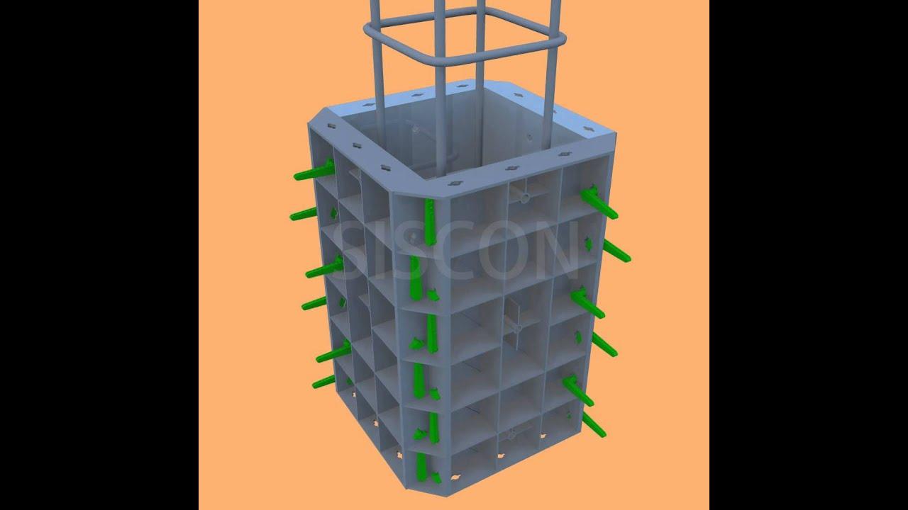 Plastic Column Formwork Siscon Formwork Youtube