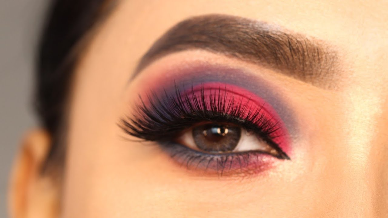 Pink Matte Cut Crease Eye Makeup Look || Easy and simple eye makeup Tutorial || Shilpa