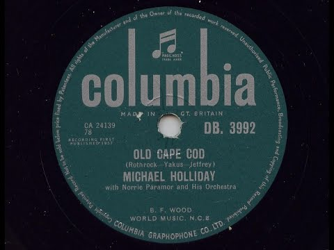 Michael Holliday 'Old Cape Cod' 1957 78 rpm
