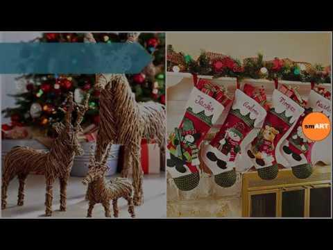 Home christmas decorations christmas door decorating ideas youtube Christmas home decoration youtube