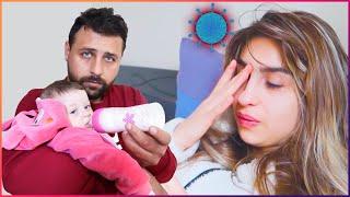 اهتميت بزوجتي بفترة إصابتها بالكورونا وضعها صعب😞وصرت مسؤول عن البيبي ميرو