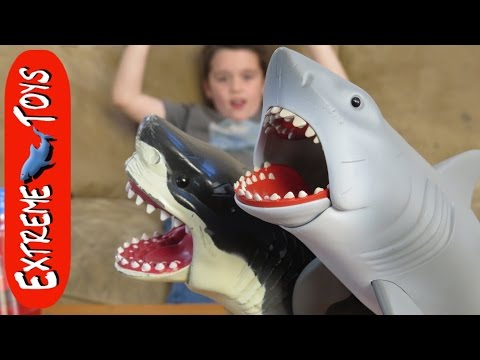 Great White Shark Causes Trouble for Ethan! Awesome Jaws Shark Toy