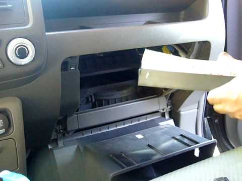 honda ridgeline air filter change in cabin air filter