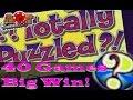 Recent Win on Totally Puzzled slot machine ** Monte Carlo Las Vegas ** ♠ SlotTraveler ♠
