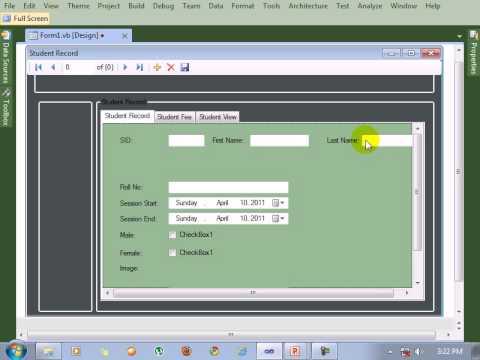 Visual Studio Tutorial Design Data Table In Form
