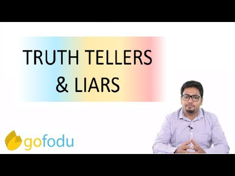 Binary Logic - Truth tellers and Liars (Logical Reasoning) for CAT 2019