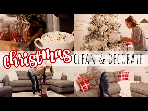 CHRISTMAS CLEAN AND DECORATE MY STUDIO 2019 || *Farmhouse Tree Reveal*