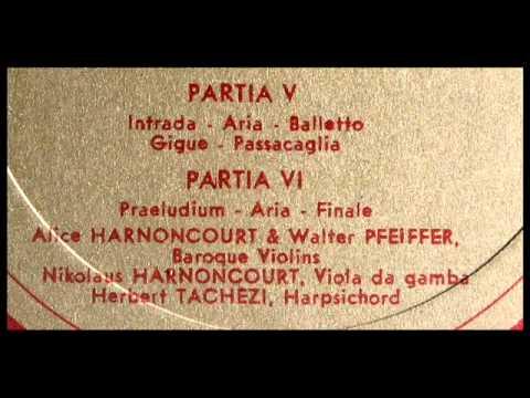 Von Biber / Alice Harnoncourt, 1964: Harmonia Artificiosa-Ariosa (1696) - Partia VI