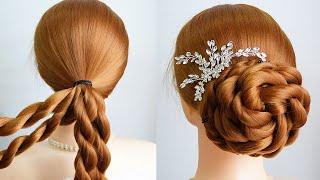 New Wedding Hairstyle Long Hair Bridal Updo Hairstyle Tutorial Elegant Bun Hairstyle Girls