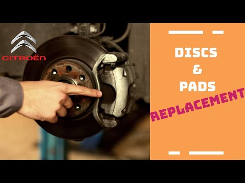 Change of brake pads and discs  Citroen C4, C4 Picasso, C3
