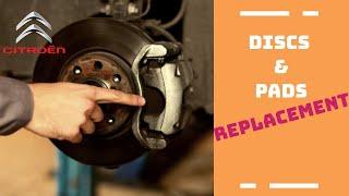 Change of brake pads and discs Citroen C4 C4 Picasso C3