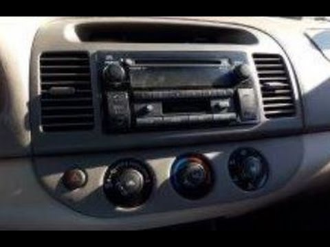 how to remove dash radio from 2003,2004,2005,2006 toyota camry for