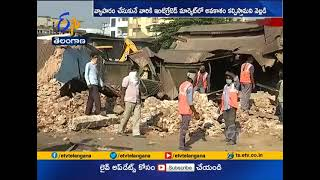 Demolishing of Buildings Continuous @ Ahmadi Bazar | in Nizamabad